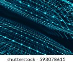 abstract technology network... | Shutterstock . vector #593078615