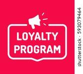 loyalty program. badge with... | Shutterstock .eps vector #593079464