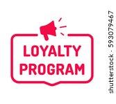 loyalty program. badge with... | Shutterstock .eps vector #593079467