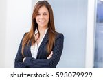 young female manager | Shutterstock . vector #593079929