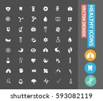 health care icon set clean... | Shutterstock .eps vector #593082119
