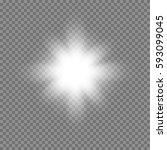 vector glowing light bursts... | Shutterstock .eps vector #593099045