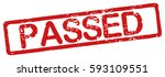 "stamp with word ""passed"" ... 