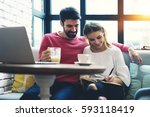couple in love resting during... | Shutterstock . vector #593118419