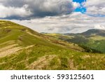 view on mountain peaks.... | Shutterstock . vector #593125601
