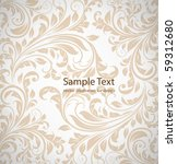 wallpaper pattern  white | Shutterstock .eps vector #59312680