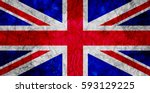 grunge flag of united kingdom. | Shutterstock . vector #593129225