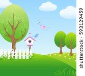 vector illustration of a... | Shutterstock .eps vector #593129459