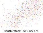 colorful explosion of confetti. ... | Shutterstock .eps vector #593129471