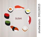 vector image of sushi logo. | Shutterstock .eps vector #593130515