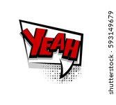 lettering yeah  yes  positive....   Shutterstock .eps vector #593149679