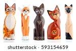 Wooden Figurines  Decorative...