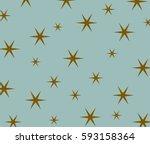 Star Pattern On Blue Background