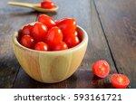 healthy queen berry tomatoes in ... | Shutterstock . vector #593161721