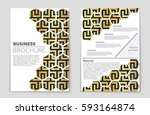 abstract vector layout...   Shutterstock .eps vector #593164874