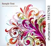 floral background | Shutterstock .eps vector #59317063