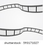 film strip 3d abstract... | Shutterstock .eps vector #593171027