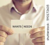 closeup on businessman holding... | Shutterstock . vector #593172635