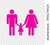 man  woman and kid sign. vector....