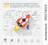 startup business idea concept ... | Shutterstock .eps vector #593176019