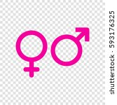male and female signs. vector.... | Shutterstock .eps vector #593176325