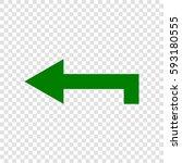 left arrow icon. vector. dark...