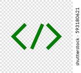 html tag illustration. vector.... | Shutterstock .eps vector #593180621