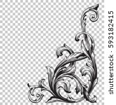 ornament in baroque style | Shutterstock .eps vector #593182415