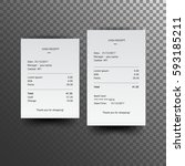 sales receipt. the printed... | Shutterstock .eps vector #593185211