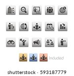 business opportunities icons  ... | Shutterstock .eps vector #593187779