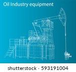 vector 3d illustration of oil... | Shutterstock .eps vector #593191004