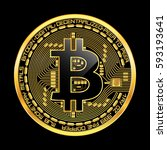Crypto Currency Golden Coin...