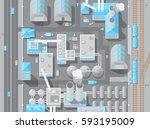 vector illustration. factory... | Shutterstock .eps vector #593195009