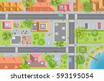 vector illustration. city top...   Shutterstock .eps vector #593195054