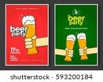 beer party poster or flyer... | Shutterstock .eps vector #593200184