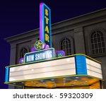 exterior night shot of a retro... | Shutterstock . vector #59320309