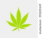 cannabis sign illustration.... | Shutterstock .eps vector #593205149