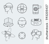 virtual reality design icon set ... | Shutterstock .eps vector #593205437