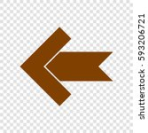left arrow icon. vector. brown...