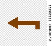 left arrow icon. vector. brown...