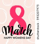 8 march international women's... | Shutterstock .eps vector #593207975