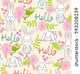 vector seamless pattern with... | Shutterstock .eps vector #593208239