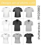 black and white men polo shirts ...   Shutterstock .eps vector #59320882