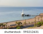 coast of the red sea gulf of... | Shutterstock . vector #593212631