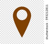 map pointer sign. vector. brown ... | Shutterstock .eps vector #593212811