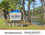welcome sign for gulf shores ...   Shutterstock . vector #593220557