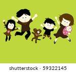 jpeg family jumping   Shutterstock . vector #59322145