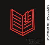 book icon vector. | Shutterstock .eps vector #593222291