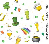 st patrick's day hand drawn... | Shutterstock .eps vector #593222789