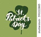 happy st patrick's day vintage... | Shutterstock .eps vector #593222885